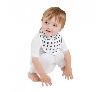 紐西蘭 Mum 2 Mum 雙面竹纖維棉機能口水巾圍兜(水彩方塊/星星)