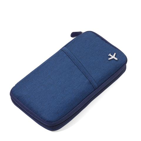 *RFID屏障護照夾(藍色)