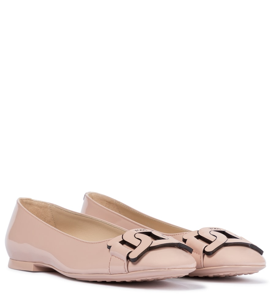 Gomma patent leather ballet flats