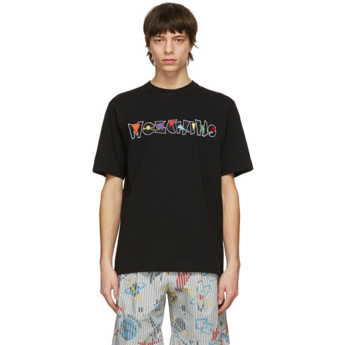 Moschino 黑色 Geometric Logo T 恤