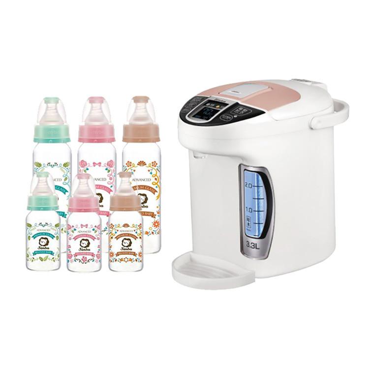 台灣 Simba 小獅王 智能六段式定溫調乳器奶瓶超值組