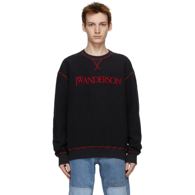 JW Anderson 黑色 Inside-Out Contrast 套头衫