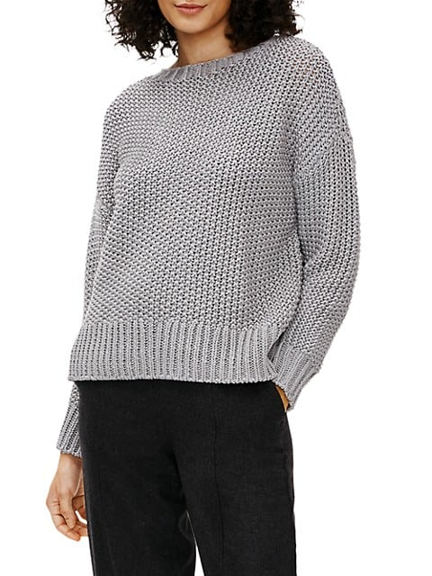 Crewneck Boxy Knit Sweater