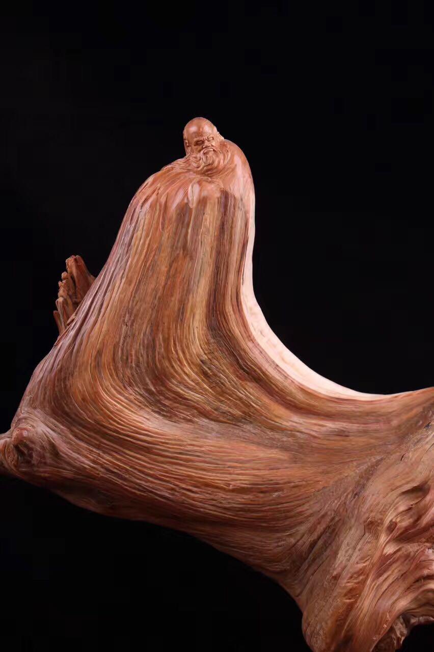太行崖柏擺件天然隨形根雕木雕刻虎皮紋客廳花架老料陳化料工藝品1入