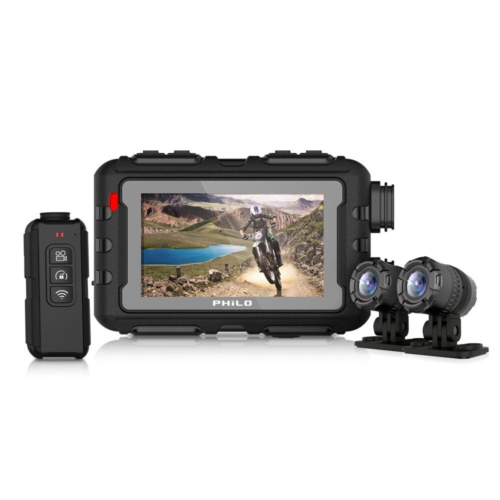 Philo 飛樂 M98黑曼巴 1080P全機防水行車紀錄器(加贈64G) [富廉網]