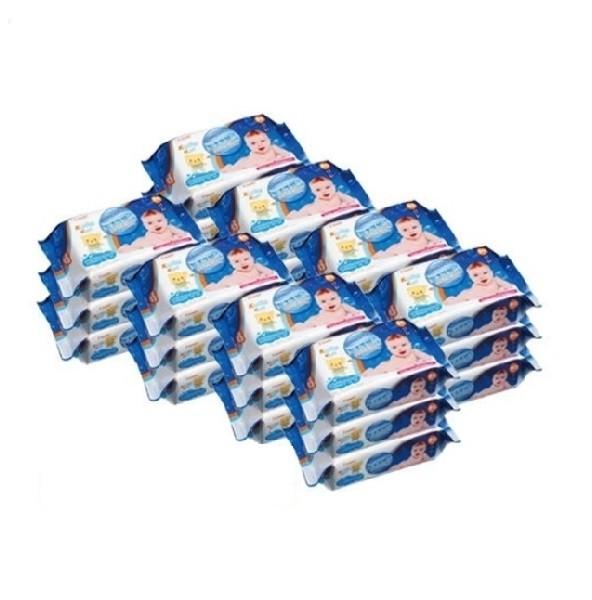 【平均1包只要$58】日本 Combi  Kuma Kun 海洋深層水嬰兒柔濕巾(80抽24入)