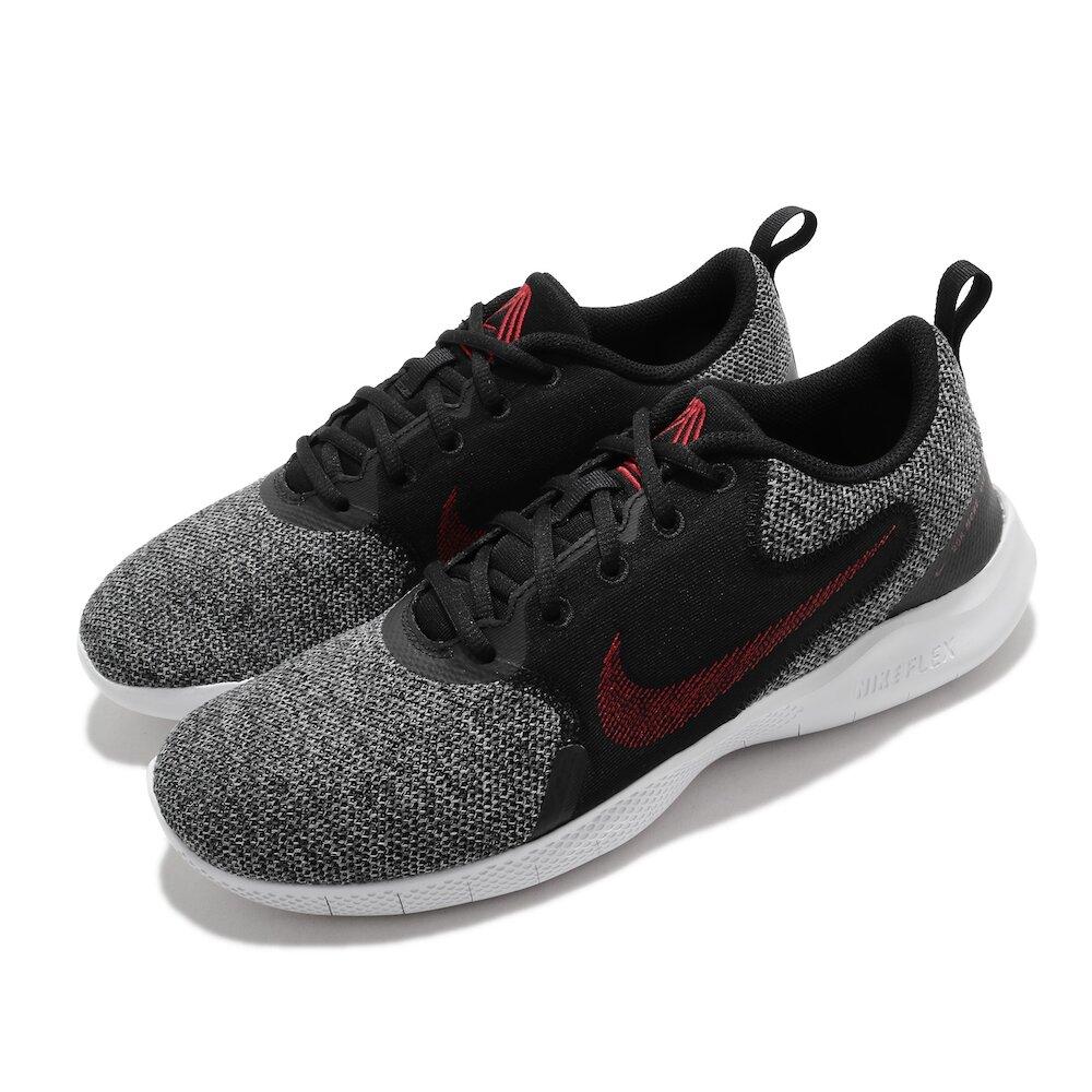 NIKE 慢跑鞋 Flex Experience RN 男鞋 輕量 透氣 舒適 避震 路跑 健身 黑 紅 [CI9960-005]