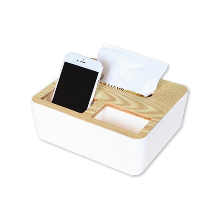 文青風木紋質感多功能收納面紙盒 衛生紙盒 衛生紙置物盒 紙巾收納盒 面紙收納盒 桌面紙巾盒