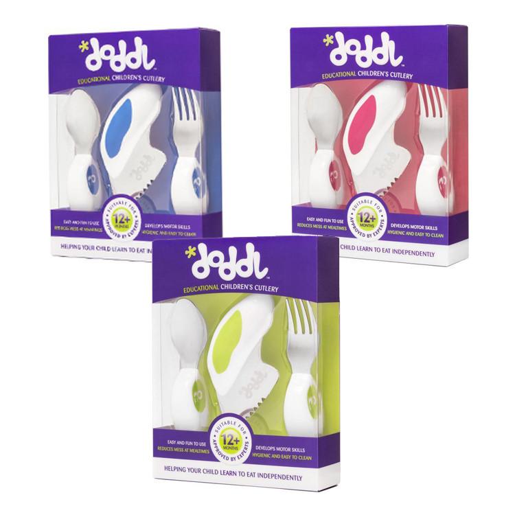 英國 doddl 人體工學嬰幼兒學習餐具三件組(共3色)