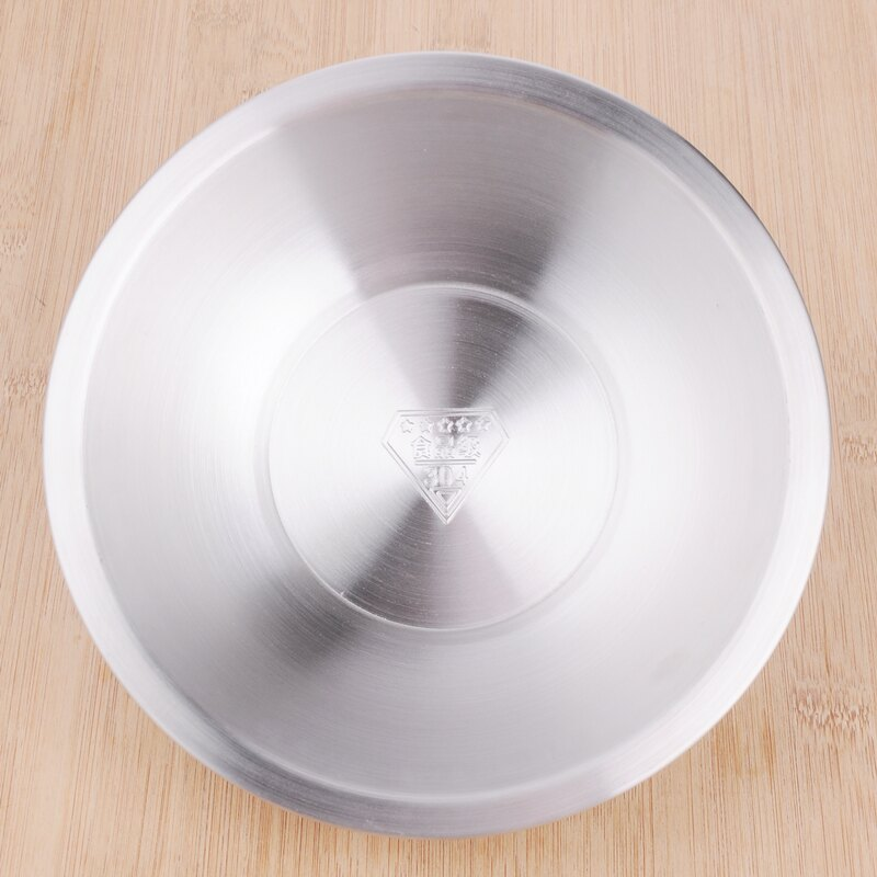 廚房用品盆子家用加厚304不銹鋼餐具湯盆打蛋盆和泡面碗飯盆火鍋1入