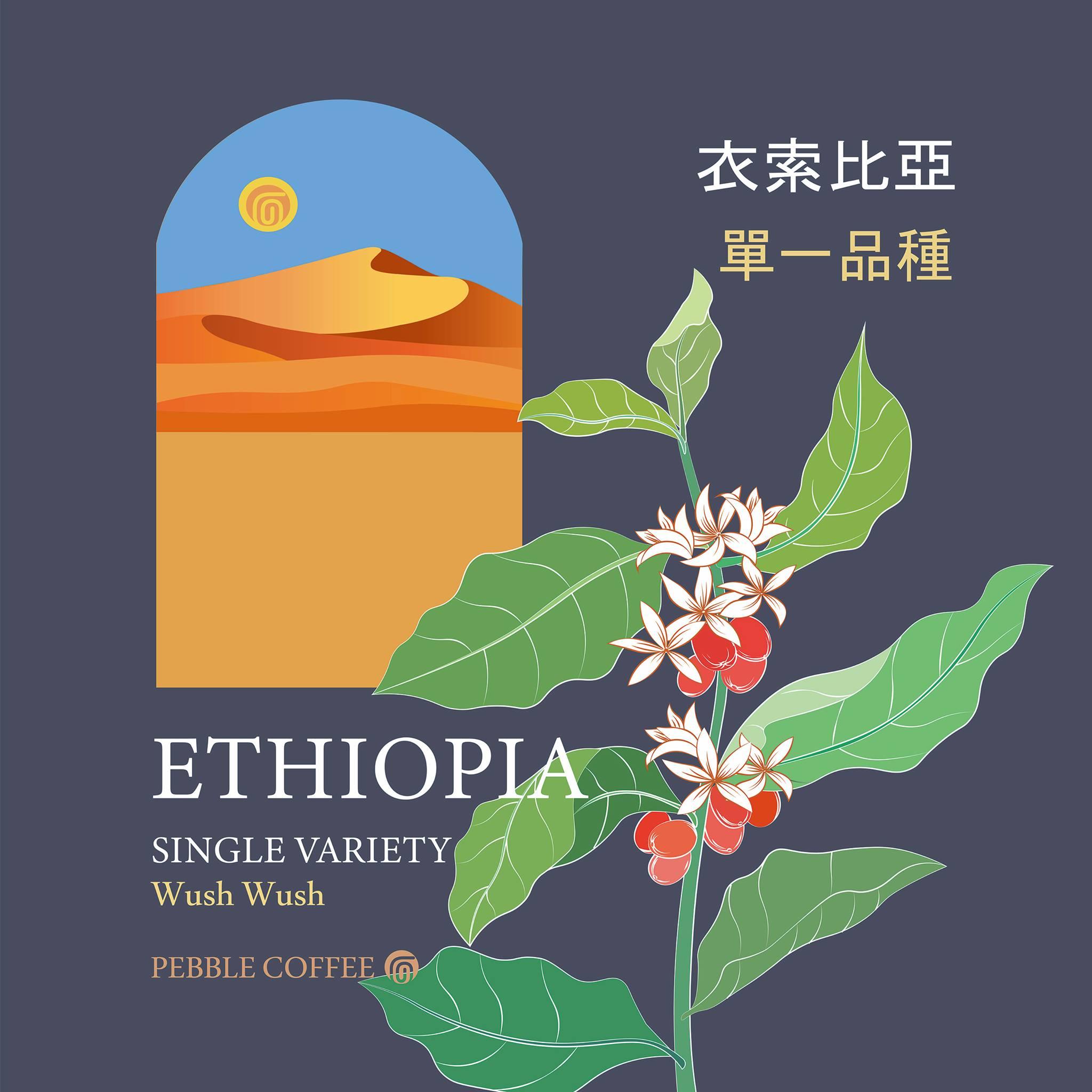 衣索比亞 古吉 厭氧日曬處理 單一品種 WUSH WUSH G1 20/03批次 三次手挑 李董咖啡