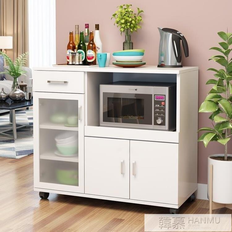 現代簡約餐邊櫃微波爐櫃子碗櫃烤箱儲物櫃茶水客廳北歐廚房置物櫥