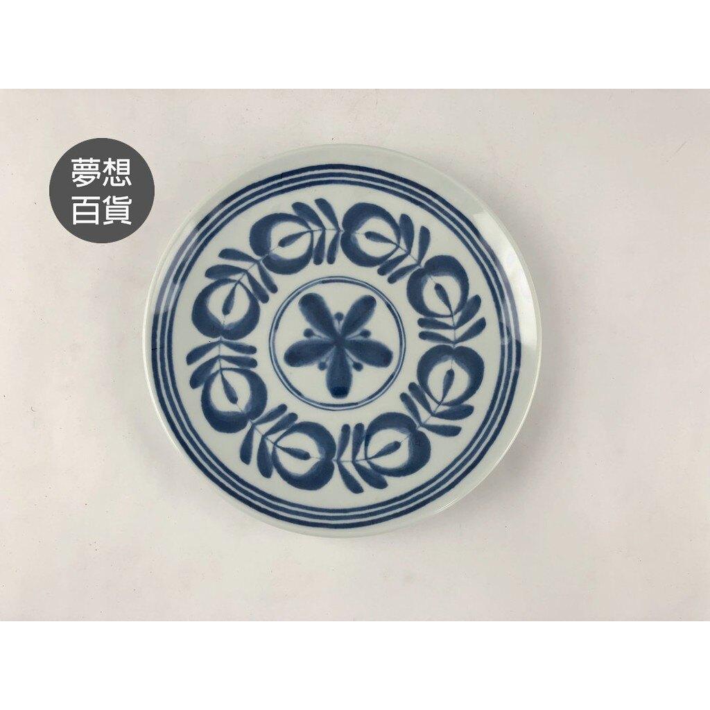 唐草秋日7吋圓盤 盤  水果盤  擺盤  早餐盤  裝飾 串燒 烤肉盤  (伊凡卡百貨)