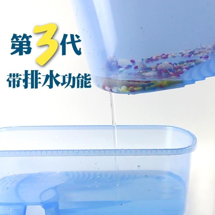 限時八折-烏龜缸帶曬台養烏龜專用缸水陸缸巴西龜缸盒箱別墅造景小大型家用