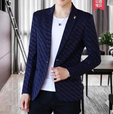 【限時優惠】春秋季休閒西服男士修身帥氣青年韓版小西裝外套潮流單西上衣薄款