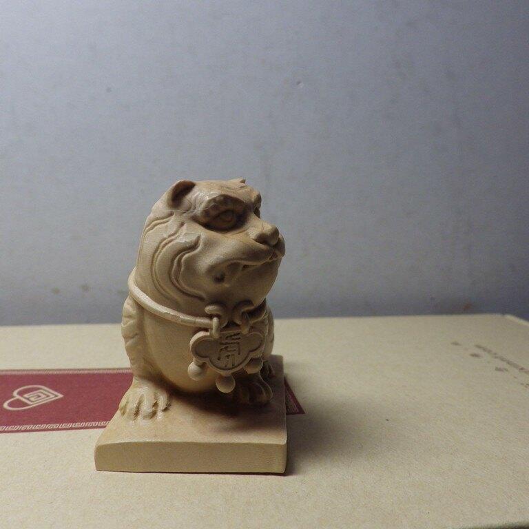 黃楊木精雕虎爺將軍(高4.8公分寬4.6公分)