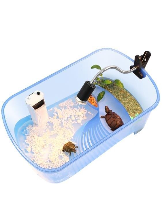 限時八折-烏龜缸帶排水孔水陸缸帶曬台巴西龜缸烏龜箱造景別墅小型大型家用