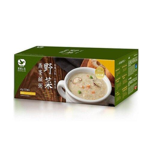 美好人生 高鈣即食野菜燕麥鹹粥(20包/盒)_高鈣高纖