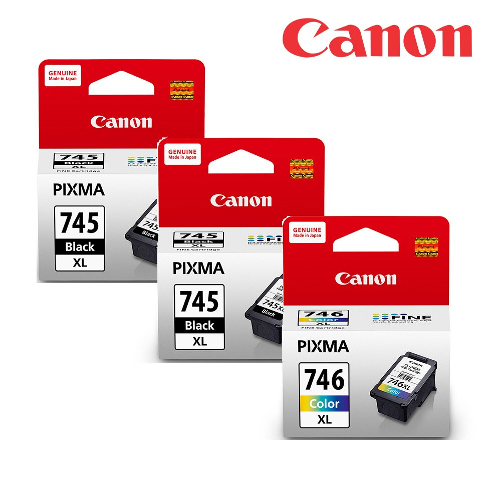 快速到貨◆Canon PG-745XL+CL-746XL 原廠高容量墨水組合(2黑1彩)