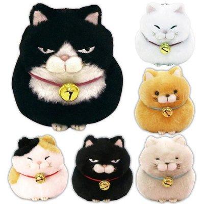 貓咪 絨毛玩偶 手玉娃娃 欠打臉 S號 日本正版 該該貝比日本精品 ☆