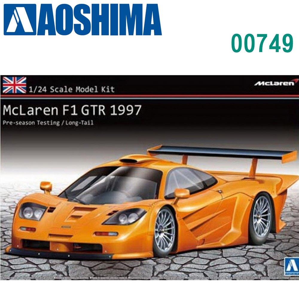 AOSHIMA 青島社 1/24 模型車 麥拉倫 跑車 F1 Gtr 1997 00749