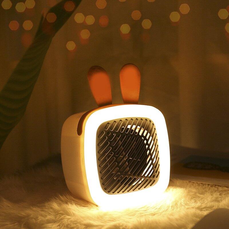 新款創意夜燈迷你桌面暖風機速熱取暖器家用小型電暖器暖腳熱風機年貨節預購 全館8.5折起