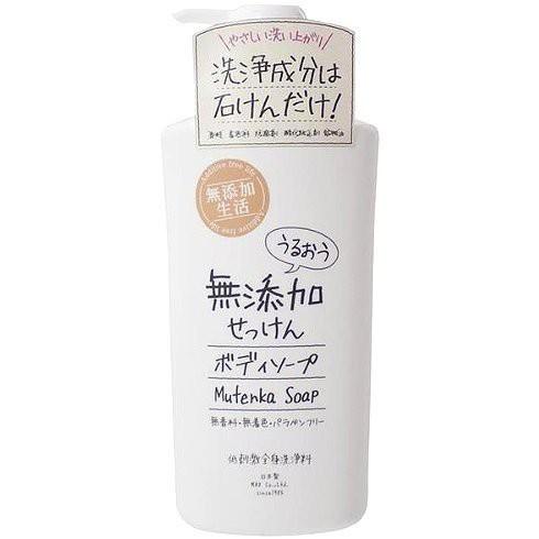 *微風小舖*SOAP MAX 無添加生活 滋潤沐浴乳 無香料 500ml 日本製 ~可超取付款 可刷卡