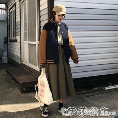 東亞熱銷-棒球外套 秋冬韓版復古寬鬆拼色立領棒球服女學院風刺-ccyc coll