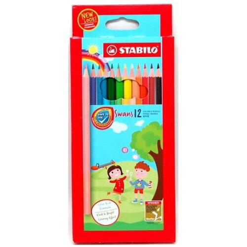 [新品上市]【史代新文具】STABILO 思筆樂 1877  水溶性色鉛筆(紙盒裝) 12色