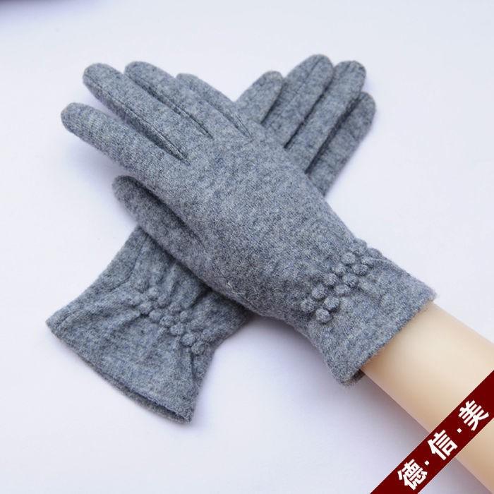 ♥♥秋冬新款女單羊絨羊毛手套女冬開車保暖防寒騎車薄款觸屏韓版可愛