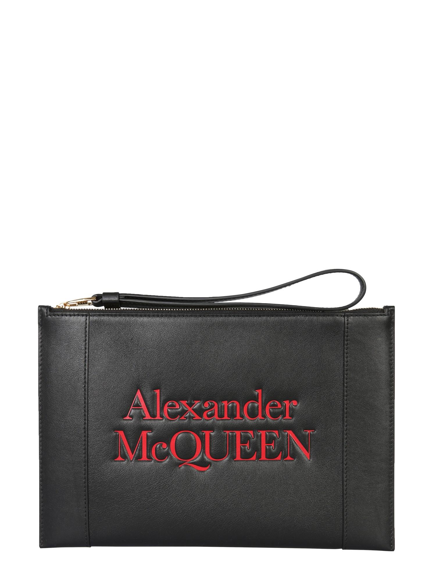 alexander mcqueen clutch signature