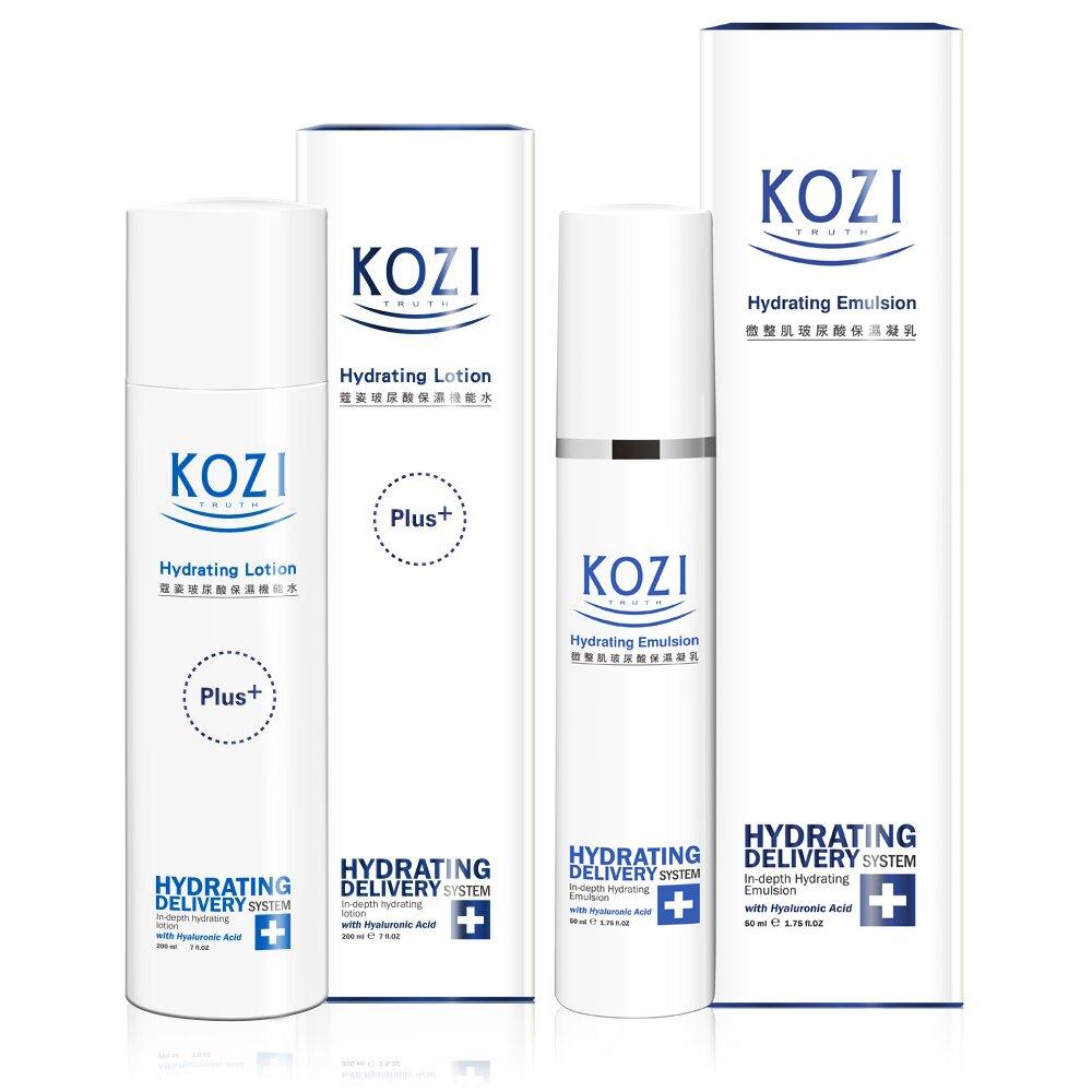 【小資女標配】KOZI蔻姿 玻尿酸保濕標配組 (保濕機能水+保濕凝乳)