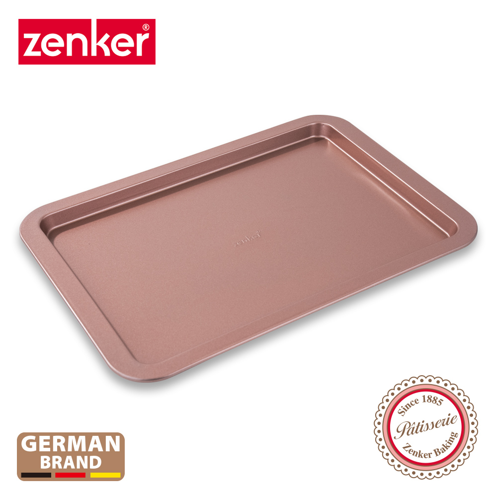德國Zenker 方型不沾餅乾烤盤-玫瑰金 ZE-5249181