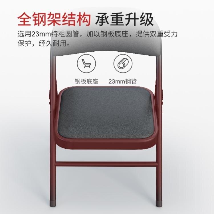 可折疊椅子便攜靠背椅餐椅陽臺家用宿舍椅培訓辦公電腦椅簡易凳子 【簡約家】