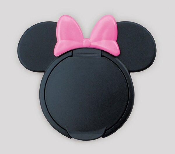 日本 迪士尼 Disney 米妮重覆黏貼濕紙巾專用盒蓋/濕巾蓋-粉x黑★衛立兒生活館★