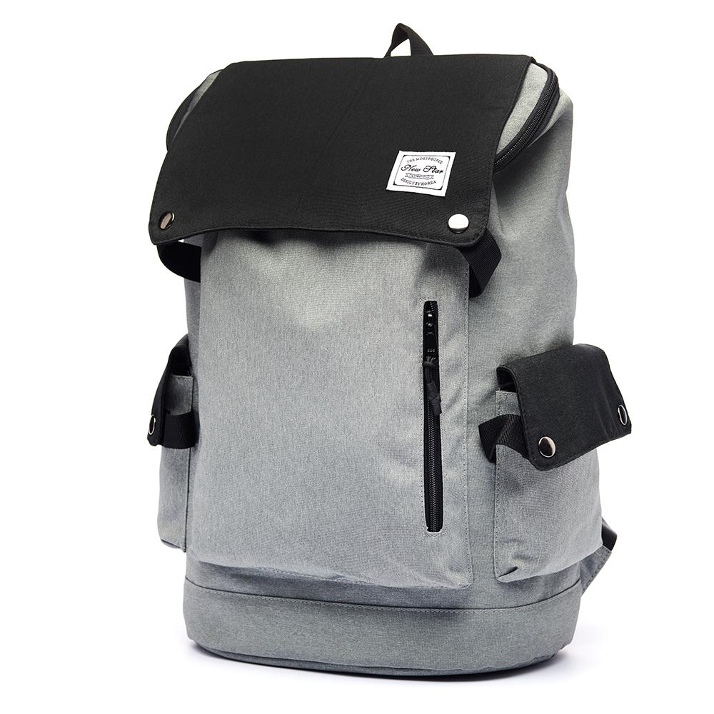 後背包 簡約撞色多功能筆電包包 電腦包 大容量  防水 多口袋 男 女 男包 現貨 NEW STAR BK248