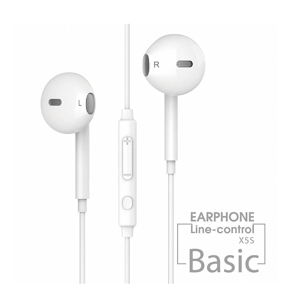 【JELLICO】X5S 入耳式音樂三鍵線控耳機(JEE-X5S-WT)-白【三井3C】
