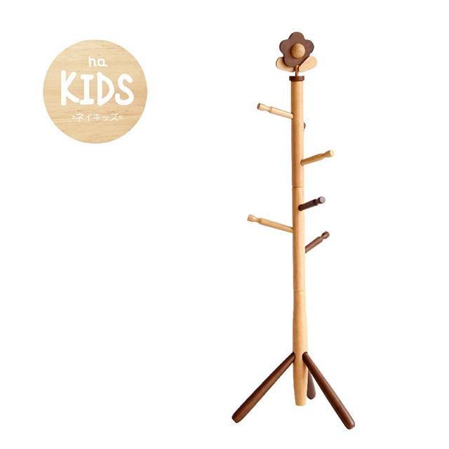 na-KIDS 可愛兒童實木掛衣架-花朵