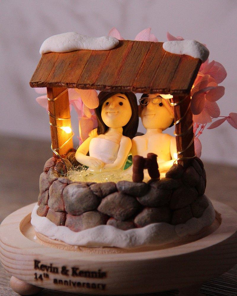 情人節小禮品,內有LED燈效,可客製名字.提供相片客製人物造型