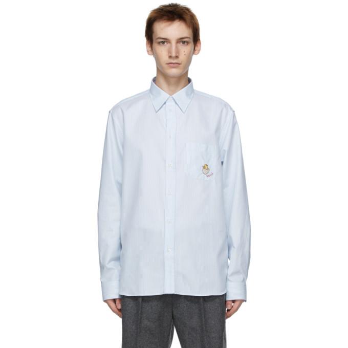Gucci 白色 and 蓝色 Chick 条纹衬衫