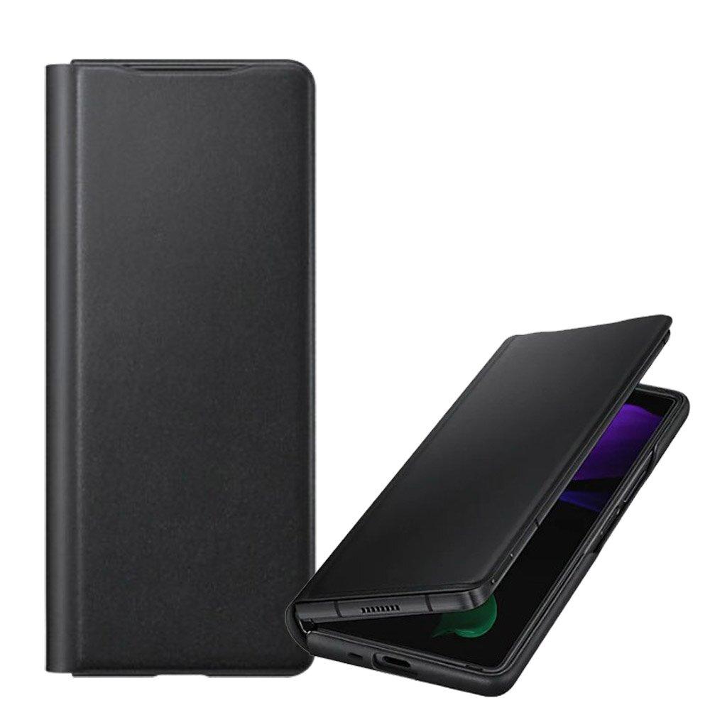 SAMSUNG Galaxy Z Fold2 原廠皮革翻頁式皮套 【黑】