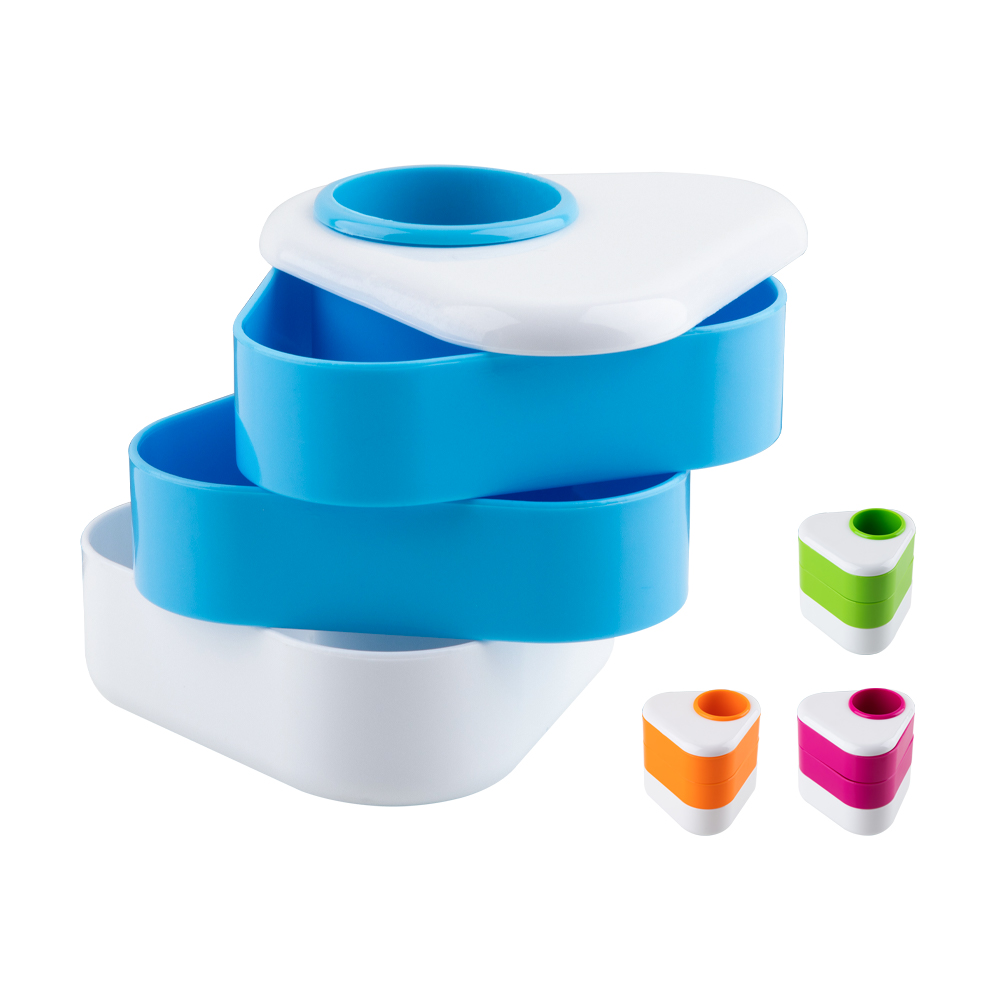 簡約三角旋轉式收納盒 360度旋轉 分隔收納盒 筆筒 多功能收納盒 置物盒 分格收納 置物架 收納小物 桌上收納 收納用品 辦公文具