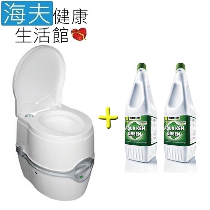 海夫porta potti excellence 豪華型 電動泵攜帶型沖水馬桶+排泄物分解劑x2