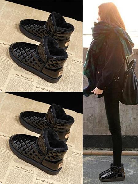 雪地靴女2020年新款冬季皮毛一體加絨加厚短靴網紅防水防滑棉鞋子【新年禮物】