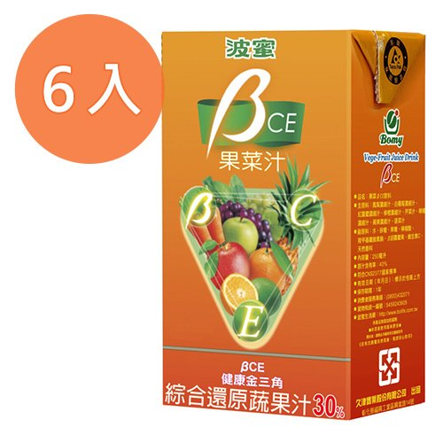 波蜜 BCE果菜汁(鋁箔包) 250ml (6入)/組