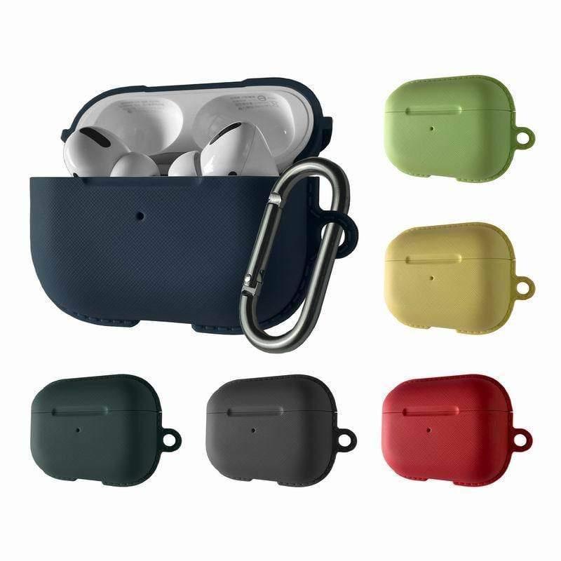NEST For AirPods Pro 防塵抗污 充電盒保護套 (附金屬防丟吊環) 夜幕綠