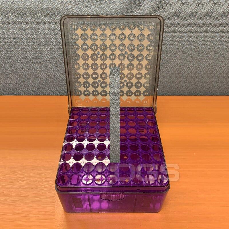 《Heathrow》PC冷凍盒 紫 81孔 3-5ml