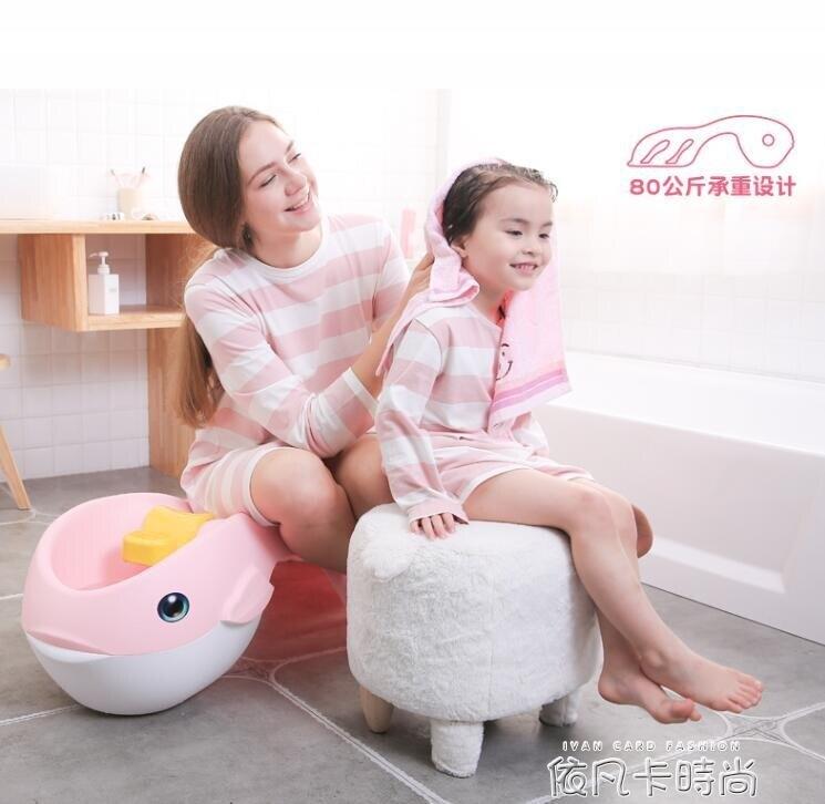 兒童加大號洗頭椅寶寶洗頭神器洗發躺椅小孩可折疊洗頭床加大加厚
