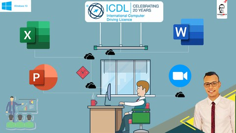 ICDL Course MS OFFICE Essential training 4 Course Bundle