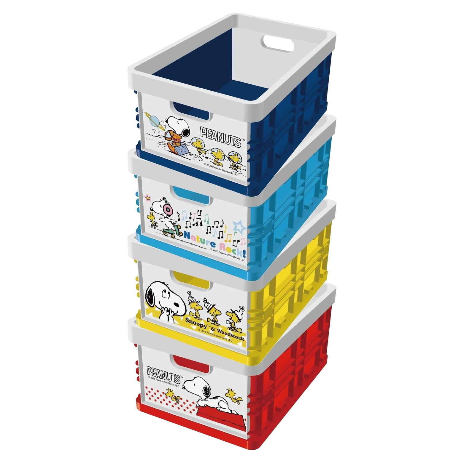【史努比】摺疊收納箱 4款顏色/紅色/黃色/粉藍色/深藍色 正版授權【限宅配到府】